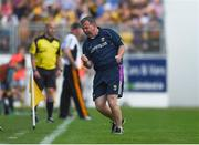 9 June 2018; Wexford manager Davy Fitzgerald celebrates his side's first goal during the Leinster GAA Hurling Senior Championship Round 5 match between Kilkenny and Wexford at Nowlan Park in Kilkenny. Photo by Daire Brennan/Sportsfile