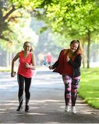 9 June 2018; Just Ask Homework Club members Chloe Hanna, left, and Carys O'Connor from took part in the Fairview parkrun in partnership with Vhi, on Saturday 9th June as part of the Run For Fun programme, an initiative developed by Irish Youth Foundation and Vhi. Run for Fun has been created by Irish Youth Foundation and Vhi to encourage young people from disadvantaged areas to get involved in running both for fitness and for recreation with an end goal of completing a 5k parkrun. Photo by David Fitzgerald/Sportsfile