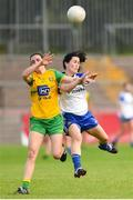 9 June 2018; Therese McCafferty of Donegal in action against Therese Scott of Monaghan during the TG4 Ulster Ladies SFC semi-final match between Donegal and Monaghan at Healy Park in Omagh, County Tyrone. Photo by Oliver McVeigh/Sportsfile