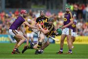 9 June 2018; Walter Walsh of Kilkenny in action against Paudie Foley of Wexford during the Leinster GAA Hurling Senior Championship Round 5 match between Kilkenny and Wexford at Nowlan Park in Kilkenny. Photo by Daire Brennan/Sportsfile