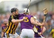 9 June 2018; Liam Ryan of Wexford is tackled by Walter Walsh of Kilkenny during the Leinster GAA Hurling Senior Championship Round 5 match between Kilkenny and Wexford at Nowlan Park in Kilkenny. Photo by Ray McManus/Sportsfile