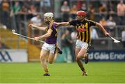 9 June 2018; David Dunne of Wexford in action against Enda Morrissey of Kilkenny during the Leinster GAA Hurling Senior Championship Round 5 match between Kilkenny and Wexford at Nowlan Park in Kilkenny. Photo by Ray McManus/Sportsfile