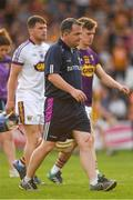 9 June 2018; Wexford manager Davy Fitzgerald and a selection of players leave the field after the Leinster GAA Hurling Senior Championship Round 5 match between Kilkenny and Wexford at Nowlan Park in Kilkenny. Photo by Ray McManus/Sportsfile