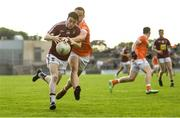 9 June 2018; John Connellan of Westmeath is tackled by Aaron McKay of Armagh during the GAA Football All-Ireland Senior Championship Round 1 match between Westmeath and Armagh at TEG Cusack Park in Mullingar, Co. Westmeath. Photo by Ramsey Cardy/Sportsfile