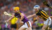 9 June 2018; Damien Reck of Wexford in action against TJ Reid of Kilkenny during the Leinster GAA Hurling Senior Championship Round 5 match between Kilkenny and Wexford at Nowlan Park in Kilkenny. Photo by Ray McManus/Sportsfile