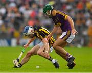 9 June 2018; Luke Scanlon of Kilkenny in action against Shaun Murphy of Wexford  during the Leinster GAA Hurling Senior Championship Round 5 match between Kilkenny and Wexford at Nowlan Park in Kilkenny. Photo by Ray McManus/Sportsfile