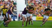 9 June 2018; Aidan Nolan of Wexford in action against Paddy Deegan of Kilkenny during the Leinster GAA Hurling Senior Championship Round 5 match between Kilkenny and Wexford at Nowlan Park in Kilkenny. Photo by Daire Brennan/Sportsfile