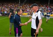 9 June 2018; Kilkenny manager Brian Cody and Wexford manager Davy Fitzgerald shake hands after the Leinster GAA Hurling Senior Championship Round 5 match between Kilkenny and Wexford at Nowlan Park in Kilkenny. Photo by Daire Brennan/Sportsfile