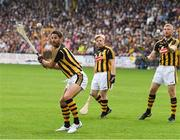 9 June 2018; A League of Their Own stars Jamie Redknapp, Freddie Flintoff and Rob Beckett were at Nowlan Park on Saturday for the ultimate penalty challenge. All three competed against each other in a half-time hurling challenge as Kilkenny faced Wexford. In preparation for the challenge, the trio were coached by Kilkenny hurling legend and fine-time All- Ireland champion, DJ Carey. This is the first time the BAFTA-winning show has come to Ireland. Viewers will be able to see the outcome of the challenge on Sky One's A League of Their Own later this year. Pictured is Jamie Redknapp in action durting the event. Photo by Ray McManus/Sportsfile