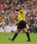 9 June 2018; Referee James McGrath during the Leinster GAA Hurling Senior Championship Round 5 match between Kilkenny and Wexford at Nowlan Park in Kilkenny. Photo by Ray McManus/Sportsfile