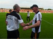 9 June 2018; Kilkenny manager Brian Cody celebrates with selector Mick Dempsey after the Leinster GAA Hurling Senior Championship Round 5 match between Kilkenny and Wexford at Nowlan Park in Kilkenny. Photo by Daire Brennan/Sportsfile