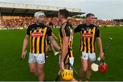 9 June 2018; Kilkenny players, left to right, Liam Blanchfield, Colin Fennelly, and James Maher celebrate after the Leinster GAA Hurling Senior Championship Round 5 match between Kilkenny and Wexford at Nowlan Park in Kilkenny. Photo by Daire Brennan/Sportsfile