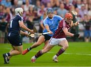 9 June 2018; Alan Nolan and Eoghan O'Donnell of Dublin in action against Conor Whelan of Galway during the Leinster GAA Hurling Senior Championship Round 5 match between Galway and Dublin at Pearse Stadium in Galway. Photo by Ray Ryan/Sportsfile
