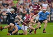 9 June 2018; Alan Nolan, Eoghan O'Donnell and Cian O'Callaghan of Dublin in action against Conor Whelan of Galway during the Leinster GAA Hurling Senior Championship Round 5 match between Galway and Dublin at Pearse Stadium in Galway. Photo by Ray Ryan/Sportsfile
