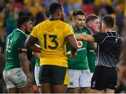 9 June 2018; Conor Murray of Ireland reacts to a decision by referee Marius van der Westhuizen late in the 2018 Mitsubishi Estate Ireland Series 1st Test match between Australia and Ireland at Suncorp Stadium, in Brisbane, Australia. Photo by Brendan Moran/Sportsfile