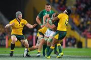 9 June 2018; Jordi Murphy of Ireland is tackled by Kurtley Beale of Australia during the 2018 Mitsubishi Estate Ireland Series 1st Test match between Australia and Ireland at Suncorp Stadium, in Brisbane, Australia. Photo by Brendan Moran/Sportsfile