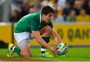 9 June 2018; Joey Carbery of Ireland during the 2018 Mitsubishi Estate Ireland Series 1st Test match between Australia and Ireland at Suncorp Stadium, in Brisbane, Australia. Photo by Brendan Moran/Sportsfile