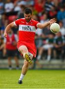 9 June 2018; Mark Lynch of Derry takes a free during the GAA Football All-Ireland Senior Championship Round 1 match between Derry and Kildare at Derry GAA Centre of Excellence, Owenbeg, Derry. Photo by Piaras Ó Mídheach/Sportsfile