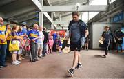 10 June 2018; Andrew Fahey of Clare arrives prior to the Munster GAA Hurling Senior Championship Round 4 match between Tipperary and Clare at Semple Stadium in Thurles, Tipperary. Photo by David Fitzgerald/Sportsfile