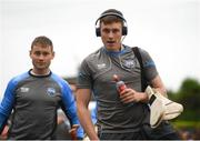 10 June 2018; Austin Gleeson of Waterford arriving to the Gaelic Grounds with team mate Mark O'Brien, left, prior to the Munster GAA Hurling Senior Championship Round 4 match between Limerick and Waterford at the Gaelic Grounds in Limerick. Photo by Eóin Noonan/Sportsfile