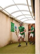 10 June 2018; Declan Hannon of Limerick leads his side out to the pitch prior to the Munster GAA Hurling Senior Championship Round 4 match between Limerick and Waterford at the Gaelic Grounds in Limerick. Photo by Eóin Noonan/Sportsfile