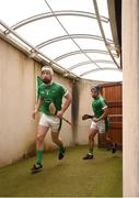10 June 2018; Cian Lynch of Limerick leads his side out to the pitch prior to the Munster GAA Hurling Senior Championship Round 4 match between Limerick and Waterford at the Gaelic Grounds in Limerick. Photo by Eóin Noonan/Sportsfile