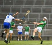 10 June 2018; Kyle Hayes of Limerick in action against Austin Gleeson of Waterford during the Munster GAA Hurling Senior Championship Round 4 match between Limerick and Waterford at the Gaelic Grounds in Limerick. Photo by Ramsey Cardy/Sportsfile