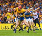 10 June 2018; John Conlon of Clare in action against Donagh Maher of Tipperary during the Munster GAA Hurling Senior Championship Round 4 match between Tipperary and Clare at Semple Stadium in Thurles, Tipperary. Photo by Ray McManus/Sportsfile
