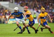 10 June 2018; Patrick Maher of Tipperary in action against Peter Duggan of Clare during the Munster GAA Hurling Senior Championship Round 4 match between Tipperary and Clare at Semple Stadium in Thurles, Tipperary. Photo by David Fitzgerald/Sportsfile
