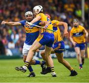 10 June 2018; Patrick Maher of Tipperary in action against Conor Cleary of Clare during the Munster GAA Hurling Senior Championship Round 4 match between Tipperary and Clare at Semple Stadium in Thurles, Tipperary. Photo by David Fitzgerald/Sportsfile