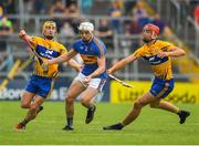 10 June 2018; Ronan Maher of Tipperary in action against Colm Galvin and Dan McCormack of Tipperary during the Munster GAA Hurling Senior Championship Round 4 match between Tipperary and Clare at Semple Stadium in Thurles, Tipperary. Photo by Ray McManus/Sportsfile