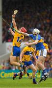 10 June 2018; John Conlon of Clare in action against Séamus Kennedy of Tipperary during the Munster GAA Hurling Senior Championship Round 4 match between Tipperary and Clare at Semple Stadium in Thurles, Tipperary. Photo by Ray McManus/Sportsfile