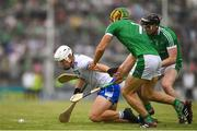 10 June 2018; Tom Devine of Waterford in action against Declan Hannon of Limerick during the Munster GAA Hurling Senior Championship Round 4 match between Limerick and Waterford at the Gaelic Grounds in Limerick. Photo by Eóin Noonan/Sportsfile