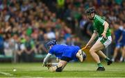 10 June 2018; Graeme Mulcahy of Limerick on his way to scoring his side's second goal following a mistake by Stephen O'Keeffe of Waterford during the Munster GAA Hurling Senior Championship Round 4 match between Limerick and Waterford at the Gaelic Grounds in Limerick. Photo by Ramsey Cardy/Sportsfile