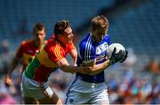 10 June 2018; Mark Timmons of Laois in action against John Murphy of Carlow during the Leinster GAA Football Senior Championship Semi-Final match between Carlow and Laois at Croke Park in Dublin. Photo by Daire Brennan/Sportsfile