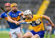 10 June 2018; Patrick O'Connor of Clare in action against Seamus Callanan of Tipperary during the Munster GAA Hurling Senior Championship Round 4 match between Tipperary and Clare at Semple Stadium in Thurles, Tipperary. Photo by David Fitzgerald/Sportsfile