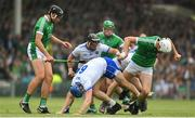 10 June 2018; Players from both teams tussle for possession including Austin Gleeson of Waterford and Kyle Hayes of Limerick during the Munster GAA Hurling Senior Championship Round 4 match between Limerick and Waterford at the Gaelic Grounds in Limerick. Photo by Ramsey Cardy/Sportsfile