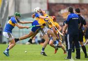 10 June 2018; Peter Duggan of Clare in action against Brendan Maher of Tipperary during the Munster GAA Hurling Senior Championship Round 4 match between Tipperary and Clare at Semple Stadium in Thurles, Tipperary. Photo by David Fitzgerald/Sportsfile