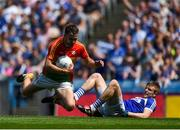 10 June 2018; Diarmuid Walshe of Carlow in action against Mark Timmons of Laois during the Leinster GAA Football Senior Championship Semi-Final match between Carlow and Laois at Croke Park in Dublin. Photo by Daire Brennan/Sportsfile