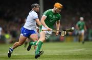 10 June 2018; Seamus Flanagan of Limerick in action against Noel Connors of Waterford during the Munster GAA Hurling Senior Championship Round 4 match between Limerick and Waterford at the Gaelic Grounds in Limerick. Photo by Ramsey Cardy/Sportsfile