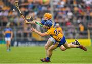 10 June 2018; Donagh Maher of Tipperary in action against Podge Collins of Clare during the Munster GAA Hurling Senior Championship Round 4 match between Tipperary and Clare at Semple Stadium in Thurles, Tipperary. Photo by Ray McManus/Sportsfile
