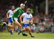 10 June 2018; Noel Connors of Waterford in action against Kyle Hayes of Limerick during the Munster GAA Hurling Senior Championship Round 4 match between Limerick and Waterford at the Gaelic Grounds in Limerick. Photo by Eóin Noonan/Sportsfile