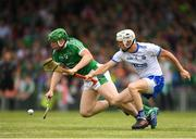 10 June 2018; Shane Dowling of Limerick in action against Shane Fives of Waterford during the Munster GAA Hurling Senior Championship Round 4 match between Limerick and Waterford at the Gaelic Grounds in Limerick. Photo by Eóin Noonan/Sportsfile