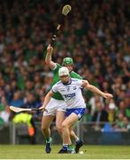 10 June 2018; Shane McNulty of Waterford in action against Shane Dowling of Limerick during the Munster GAA Hurling Senior Championship Round 4 match between Limerick and Waterford at the Gaelic Grounds in Limerick. Photo by Eóin Noonan/Sportsfile