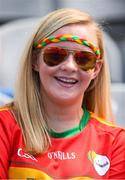10 June 2018; Carlow supporter Sarah Thompson, from Hacketstown, prior to the Leinster GAA Football Senior Championship Semi-Final match between Carlow and Laois at Croke Park in Dublin. Photo by Stephen McCarthy/Sportsfile