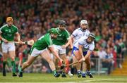 10 June 2018; Shane Dowling of Limerick in action against Noel Connors of Waterford during the Munster GAA Hurling Senior Championship Round 4 match between Limerick and Waterford at the Gaelic Grounds in Limerick. Photo by Eóin Noonan/Sportsfile
