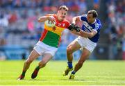 10 June 2018; Paul Broderick of Carlow and Gareth Dillon of Laois during the Leinster GAA Football Senior Championship Semi-Final match between Carlow and Laois at Croke Park in Dublin. Photo by Stephen McCarthy/Sportsfile