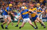 10 June 2018; Séamus Kennedy of Tipperary in action against John Conlon of Clare during the Munster GAA Hurling Senior Championship Round 4 match between Tipperary and Clare at Semple Stadium in Thurles, Tipperary. Photo by David Fitzgerald/Sportsfile