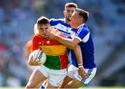 10 June 2018; Jordan Morrissey of Carlow in action against Niall Donoher of Laois during the Leinster GAA Football Senior Championship Semi-Final match between Carlow and Laois at Croke Park in Dublin. Photo by Stephen McCarthy/Sportsfile