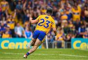 10 June 2018; Ian Galvin of Clare celebrates after scoring his side's first goal during the Munster GAA Hurling Senior Championship Round 4 match between Tipperary and Clare at Semple Stadium in Thurles, Tipperary. Photo by David Fitzgerald/Sportsfile